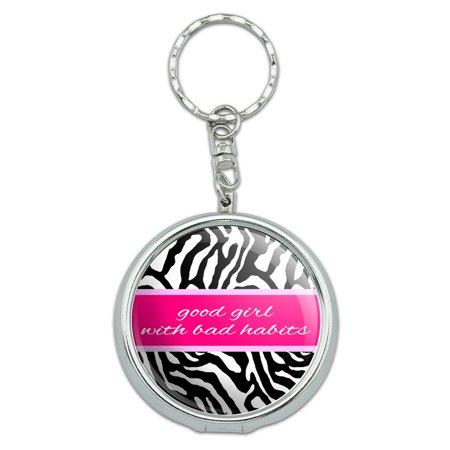 Good girl with Bad Habits - Zebra Print Portable Ashtray Keychain