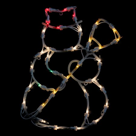 Northlight 15 in. Double Sided Pre Lit Snowman Window Light Display