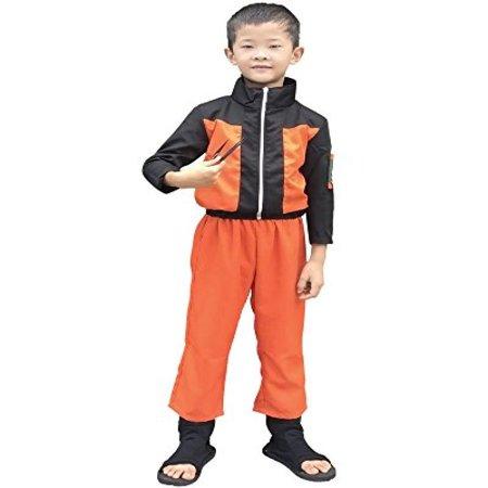 Miccostumes Boy's Naruto Uzumaki Kids Cosplay Costume (M) - Naruto Costums