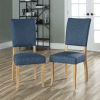 Manor Park Open-Back Parsons Dining Chair, Set of 2 - Blue