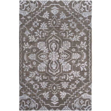 Country Floral Breezy Collection Area Rug in Sapphire and Oval, Rectangle, Round, Runner Shape