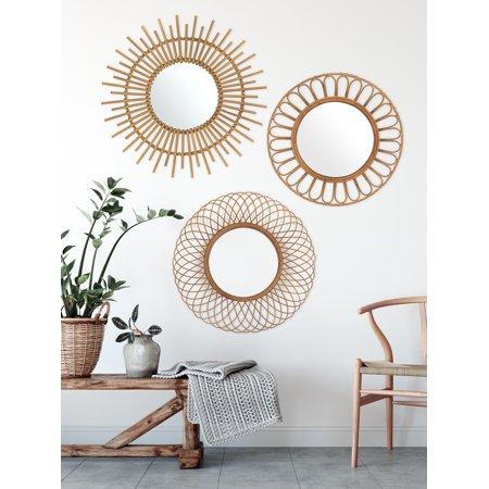 Boho Decor For Bathroom Entryway, Round Decorative Mirror Canada