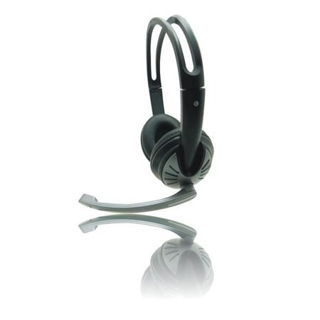 iMicro SP-IMME282 Wired USB Headphone w- Microphone & Volume Control (Black) - image 1 of 1