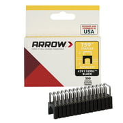 "Arrow T59 Insulated Stainless Steel Black Staples 5/16"" x 5/16"" - 300 ct"