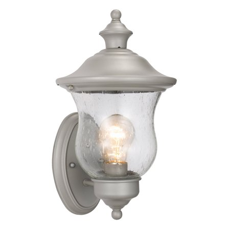 Design House 508978 Highland 1-Light Indoor/Outdoor Wall Light, Silver