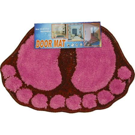 Four Seasons 12440967 Foot Prints Hot Pink-red Shaggy Accent Floor Rug Door - 100 Floors Halloween Season Floor 7