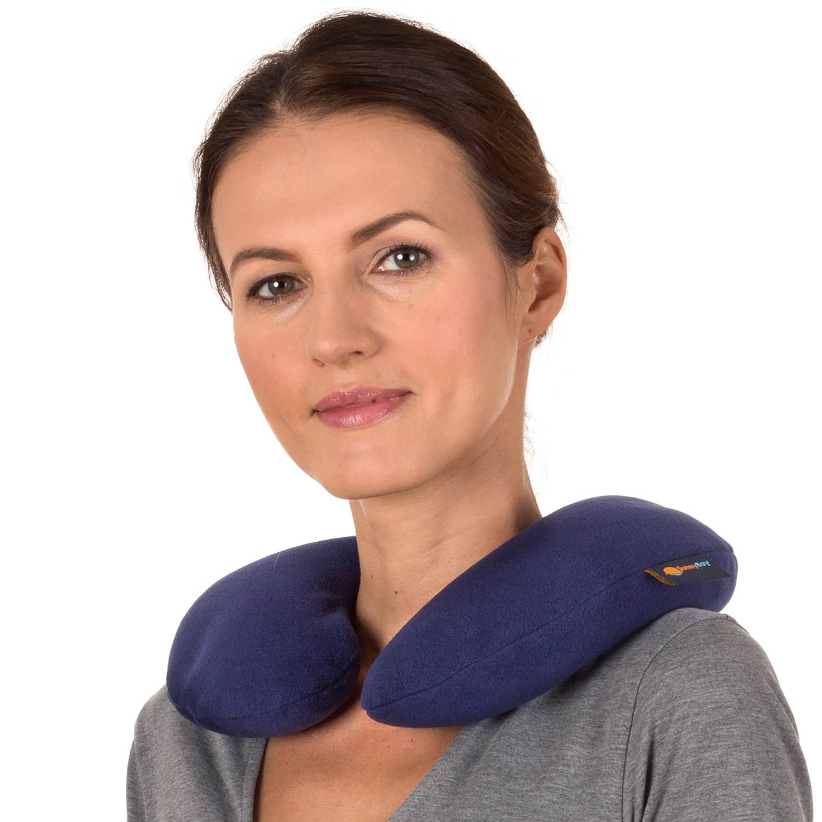 Sunny Bay Washable C-shaped Neck Wrap, Whole Grain, Microwavable Moist Heat, For Neck Pain Relief
