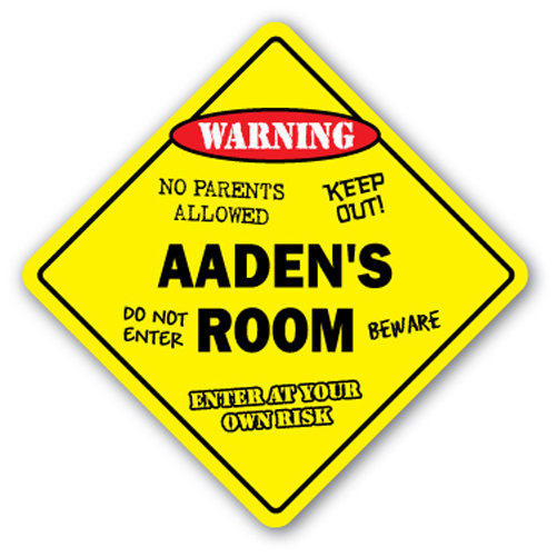AADEN'S ROOM SIGN kids bedroom decor door children's name boy girl gift