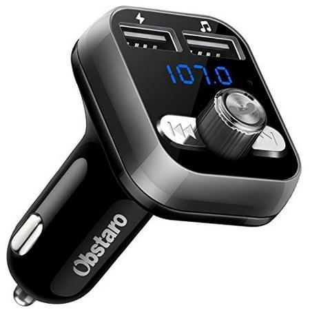 FM Transmitter, OBSTARO Bluetooth Fm Transmitter for car, Wireless in-car Bluetooth Receiver