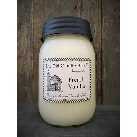 French Vanilla 16 Oz Jar Candle - Made in the USA - Blow out The Light And Turn On The (Turn Out The Lights Light A Candle)