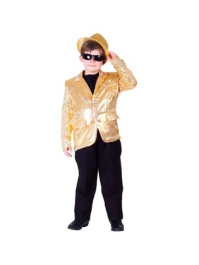 Dress Up America 739-S Kids Gold Sequined Blazer, Small - Age 4 to 6