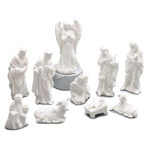 Burton White Porcelain Nativity Pc