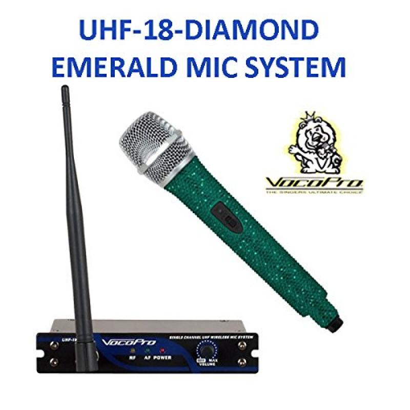 UHF-18 DIAMOND-Single Channel UHF Wireless Crystal Encrusted Microphone System