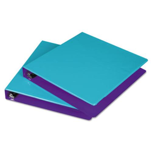 "Samsill Fashion Two-tone Round Ring Binders - 1 1/2"" Binder Capacity - Letter - 8 1/2"" x 11"" Sheet Size - 350 Sheet Capa"