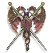 Zingz & Thingz Dueling Dragons Crest Wall D cor