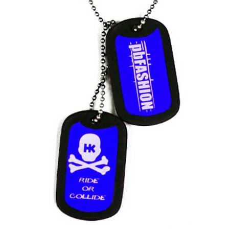 HK Army Dog Tags - Blue HK/PBFashion Edition Dog Tags