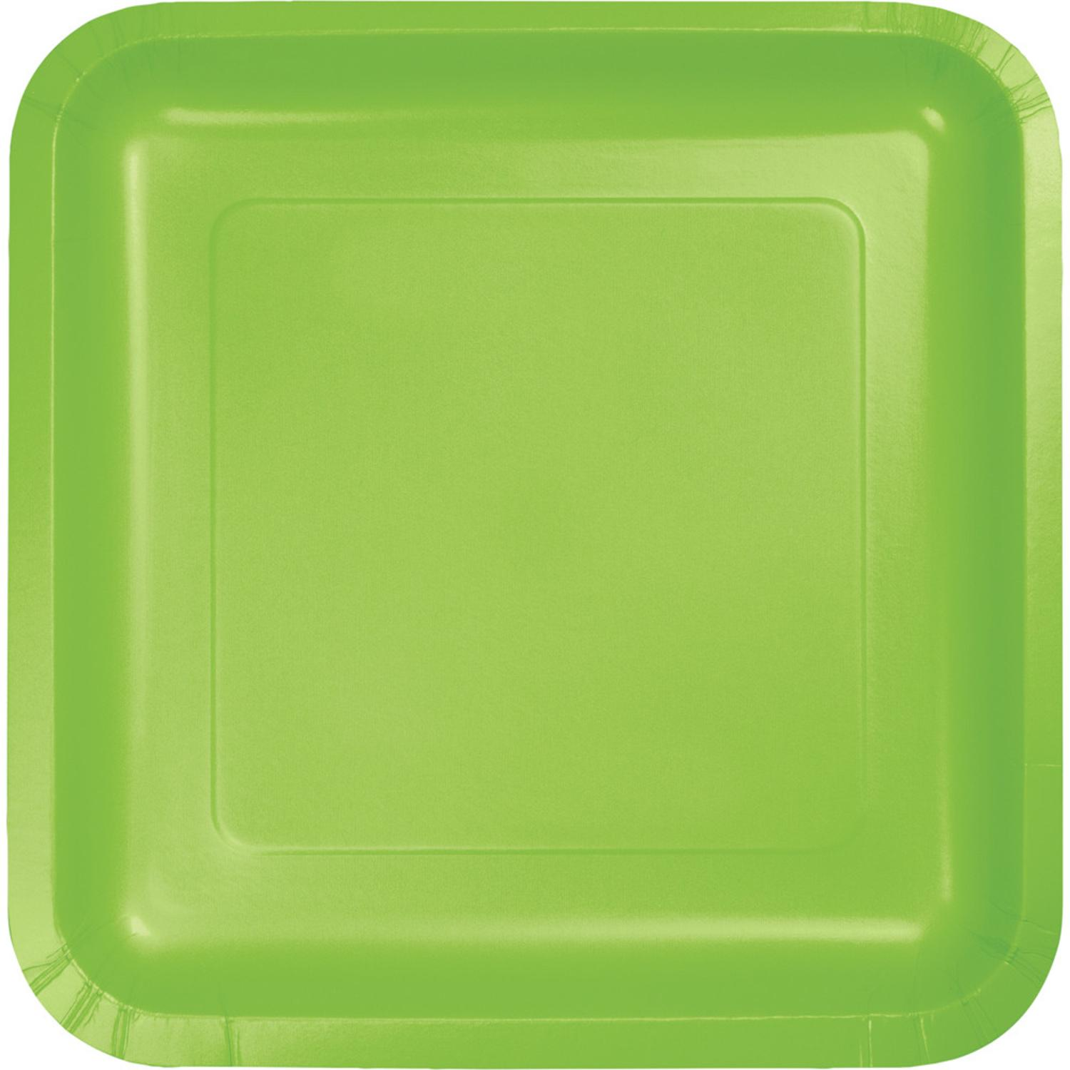 """Pack of 180 Fresh Lime Premium Disposable Paper Party Lunch Plates 7"""""""