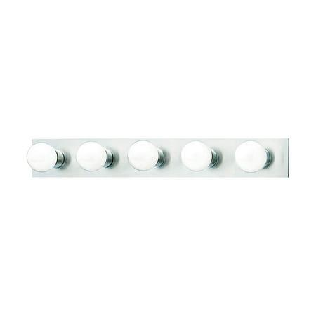 Silver Bathroom Vanity Light - ELK Lighting Vanity Strips 5 Light Bathroom Vanity Light