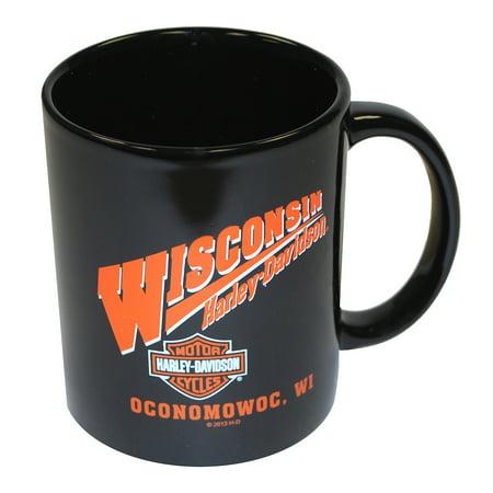 Harley-Davidson Ceramic Coffee Mug Black WISHD MUG, Harley Davidson