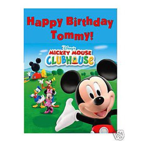 Mickey Mouse Clubhouse edible cake image cake topper - Mickey Mouse Cake Kit