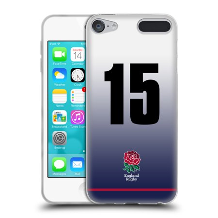 OFFICIAL ENGLAND RUGBY UNION 2017/18 HOME KIT SOFT GEL CASE FOR APPLE IPOD TOUCH MP3