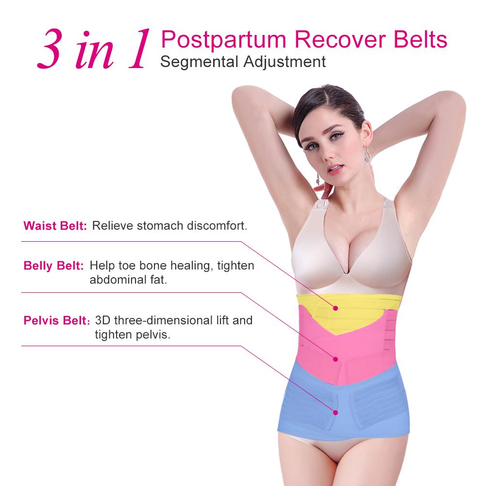 2906110698 TMISHION - Postpartum Support Recovery Belly Wrap Waist Pelvis Belt Body  Shaper Postnatal Shapewear 3 in 1 - Walmart.com