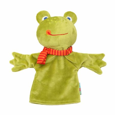 Akoyovwerve Glove Puppets Animal Hand Puppets for Kids Plush Toys Storytelling Game Props--Farm Animals,Green