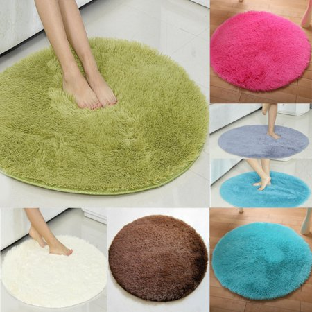 Hot 5 Colors Round Fluffy Rugs Diameter 47 Anti Skid Gy Area Rug Room Home Bedroom Carpet Floor Mat