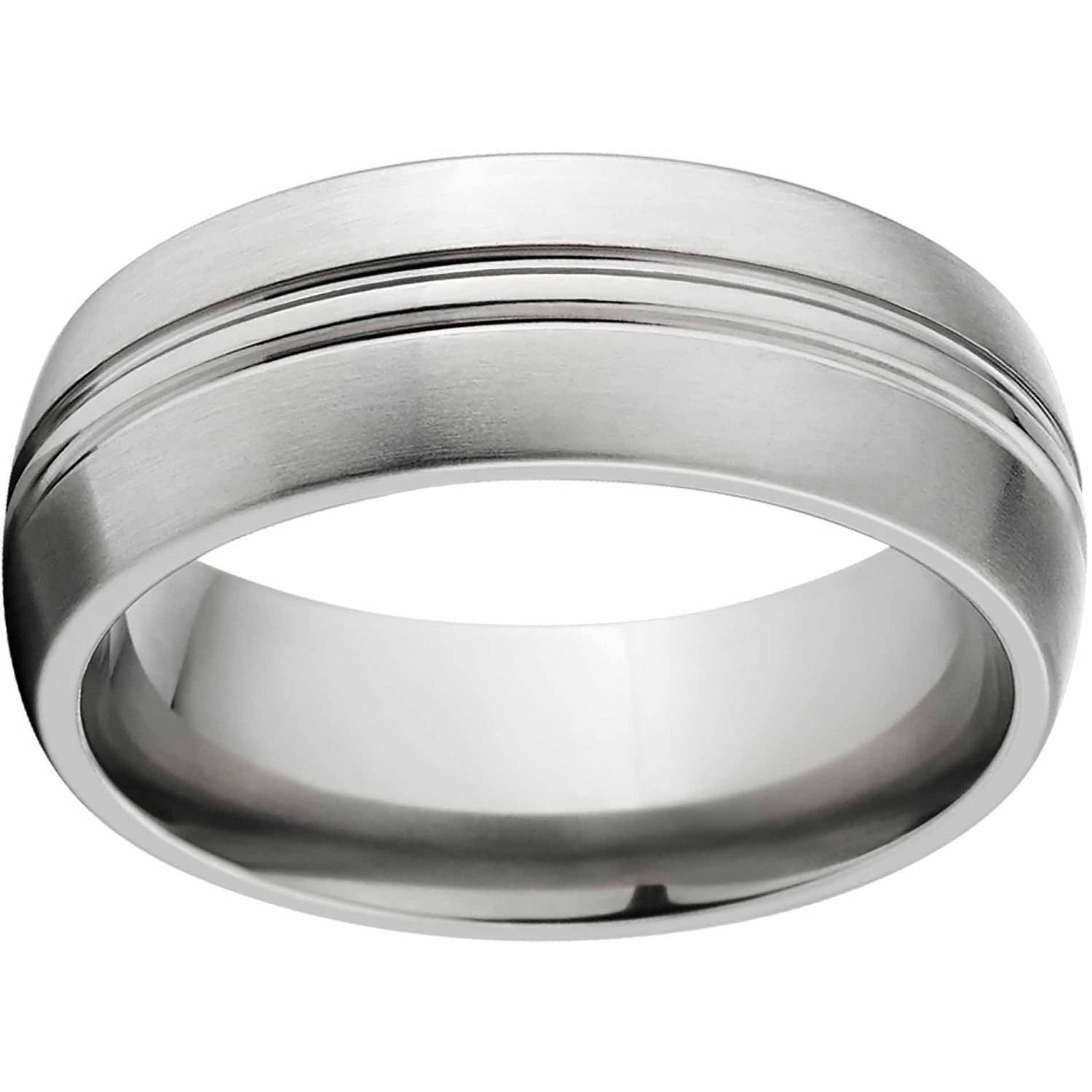 Brushed 8mm Titanium Wedding Band with Comfort Fit Design