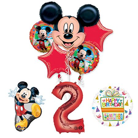 The Ultimate Mickey Mouse 2nd Birthday Party Supplies and Balloon Decorations (Mickey Mouse Shaped Balloons)
