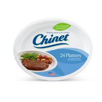 "Chinet Classic White Platter Plates, 12 5/8x10"", 24 Count"