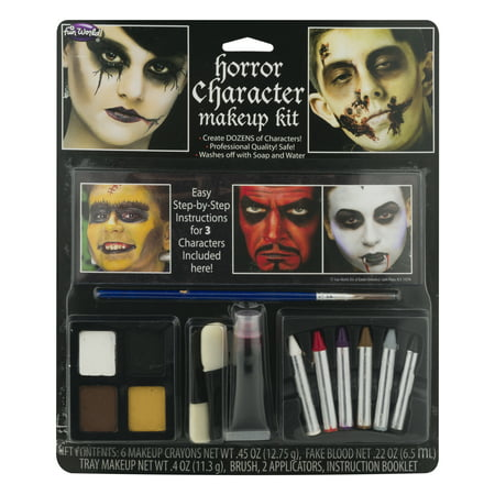 Fun World® Horror Character Makeup Kit 12 pc Carded Pack - Halloween Little Girl Makeup
