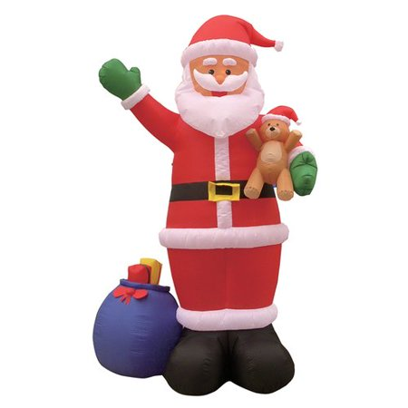 The Holiday Aisle Christmas Inflatable Santa Claus with Bear Decoration (Inflatable Bear)