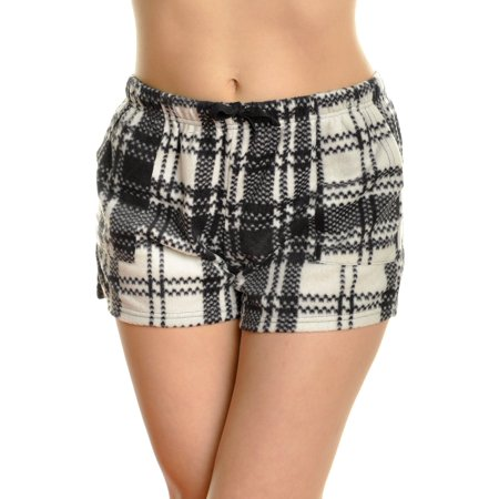 Angelina Women's Cozy FLEECE Pajama Shorts - Halloween Pajamas Womens