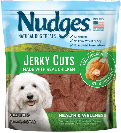 Nudges Health and Wellness Chicken Jerky Dog Treats, 36 oz.