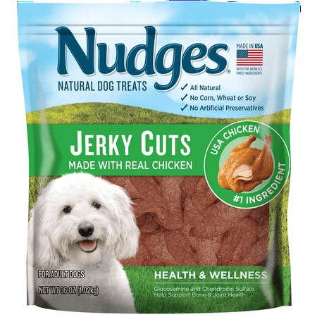 Nudges Health and Wellness Chicken Jerky Dog Treats, 36
