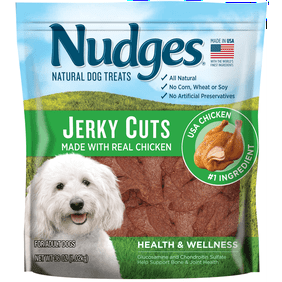 87702021a Nudges Health and Wellness Chicken Jerky Dog Treats