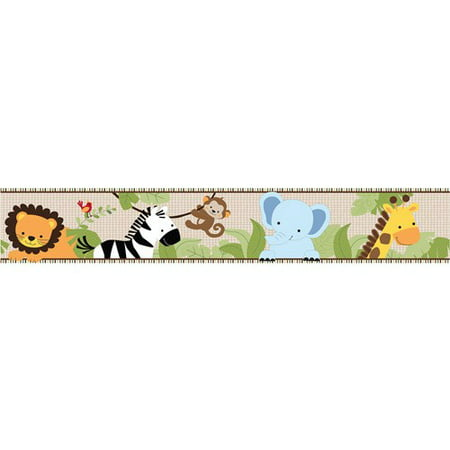 Lambs & Ivy Bedtime Originals Jungle Buddies Wallpaper Border