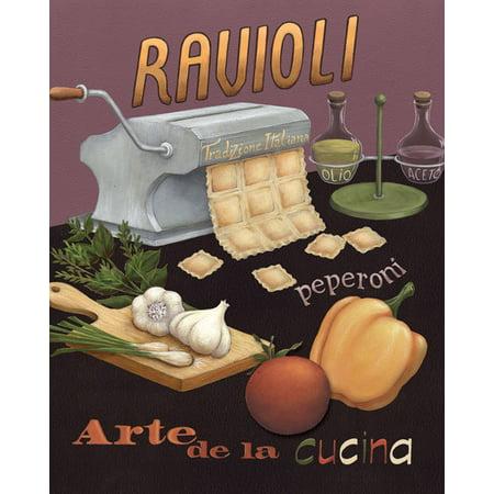 Ravioli Restaurant Italian Retro Class Cooking Pasta Modern Cooking Living Room Decoration 8X10 - Italy Decorations