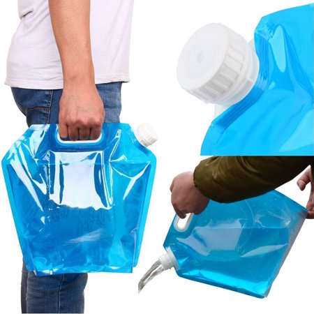 Siaonvr 5L Folding Drinking Water Bucket Camping Hiking Water Container Storage Bag A Safe Drinking Water Storage