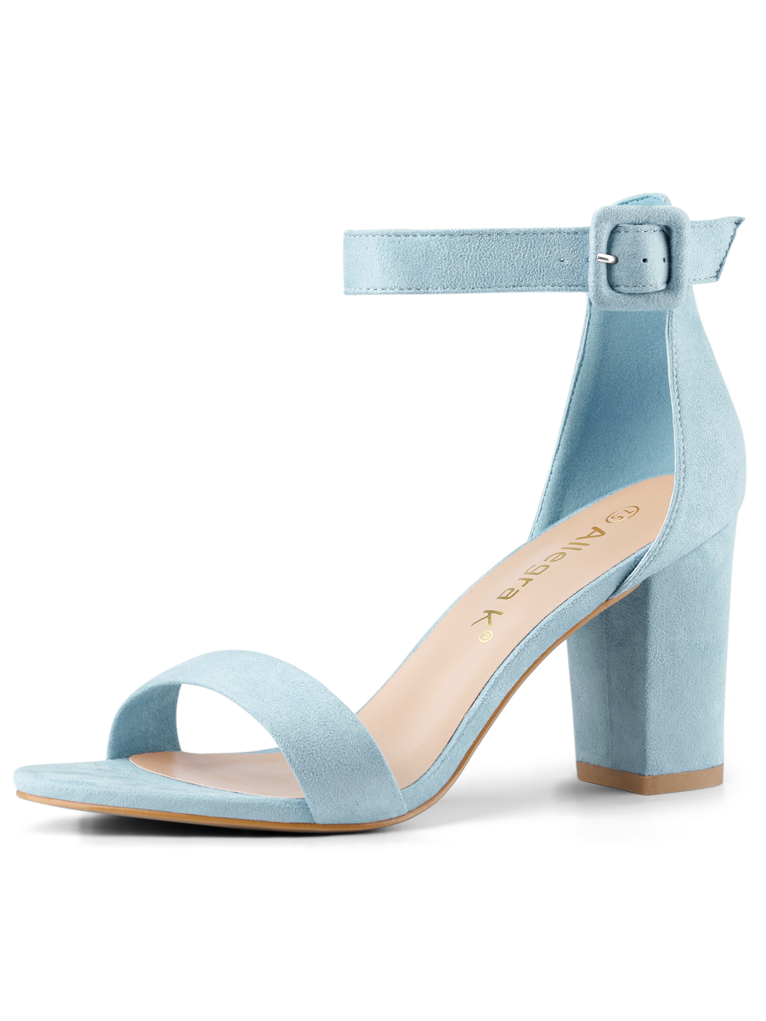 Unique Bargains Women Chunky Heel Ankle Strap Sandals Open Toe Block Heel