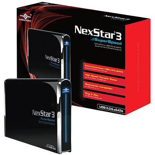 """Vantec NexStar 3 SuperSpeed 2.5"""" SATA to USB 3.0/eSATA HDD Enclosure"""