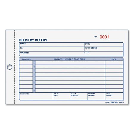 Rediform Delivery Receipt Book, White