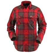 Outback Trading Shirt Mens Long Sleeve Huck Performance Red 42632