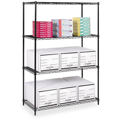 Safco Industrial Wire Shelving, Black