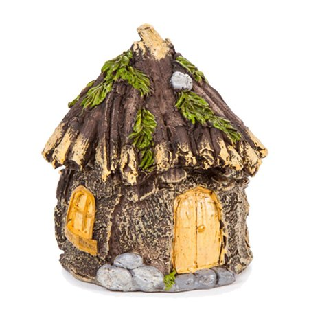 Miniature Enchanted Cottage Gnome Hobbit Fairy (Shabby House), Let this Miniature Resin Fairy Garden House bring your miniature scene to life! By - Enchanted House