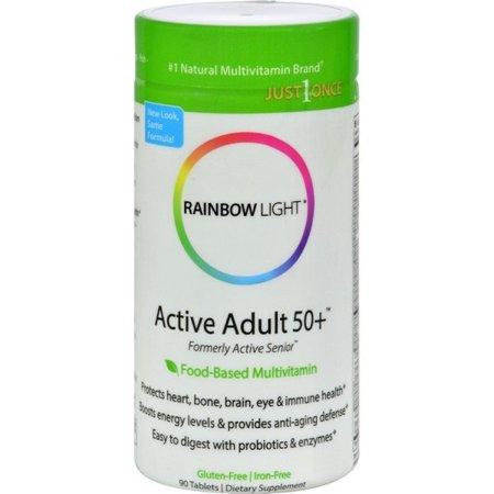 90 Tablets Rainbow Light - Rainbow Light Active Senior Multivitamin - 90 Tablets