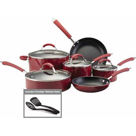 Farberware Millennium Colors Nonstick Aluminum 12-Piece Cookware Set (Farberware Cookware Color)