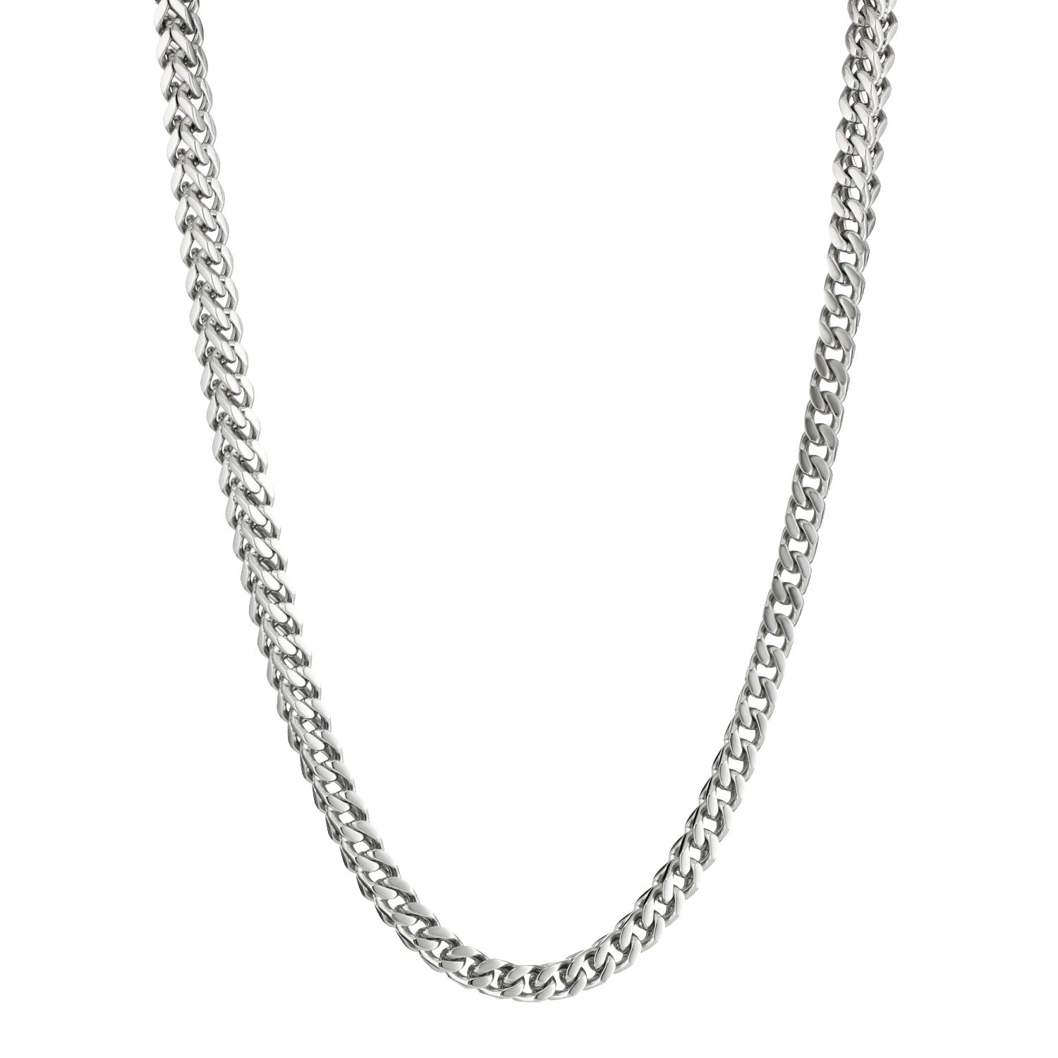 Metro Jewelry Stainless Steel Thin Foxtail Necklace