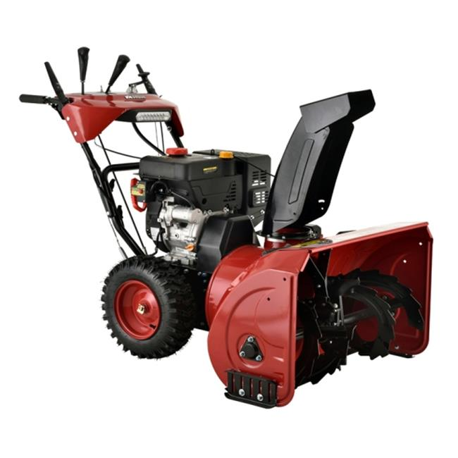 AMICO Power AST- 28 28 Inch Gas Snow Blower- Heated Grips & Power Steering by